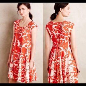Maeve Lace-Up Back Tassel Bird Dress